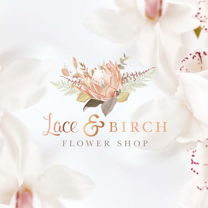 Creative K - Graphic Designer & Web Developer Logo - Lace & Birch