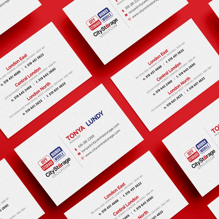 City Storage Group Business Card Design