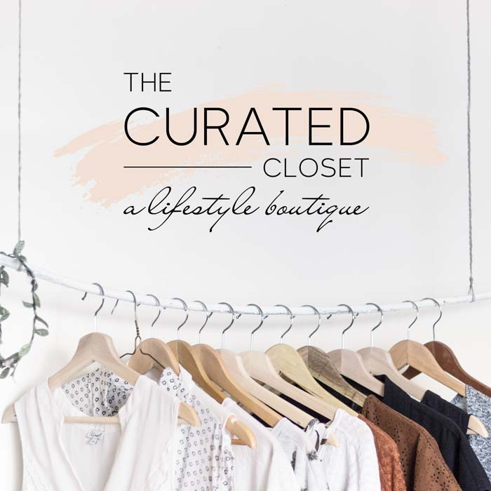The Curated Closet Lifestyle Boutique Logo
