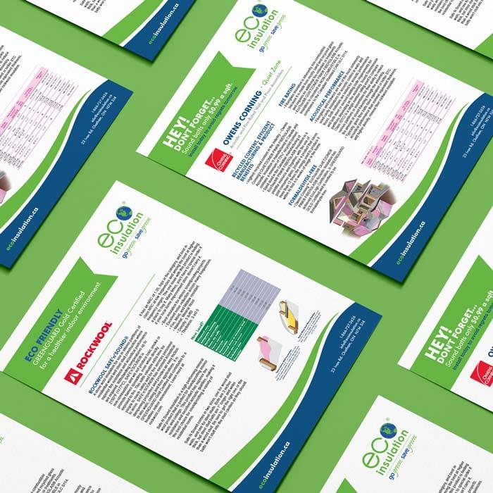 Eco Insulation Information Sheet Design