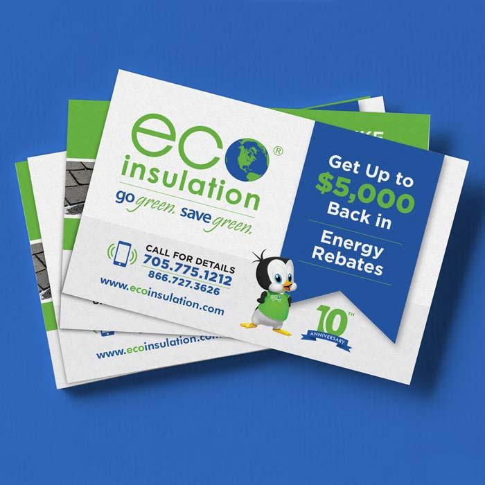 Eco Insulation Rebate Postcard Design
