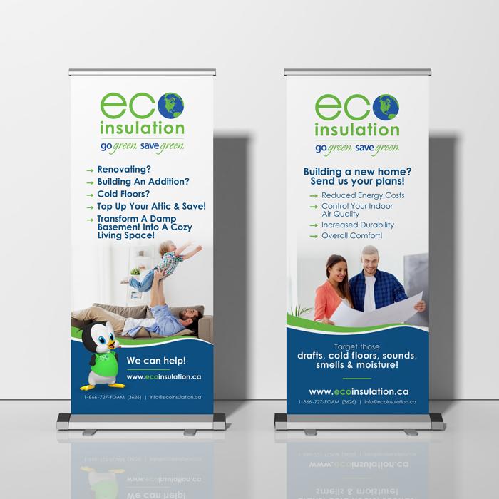 Eco Insulation Retractable Banner Design