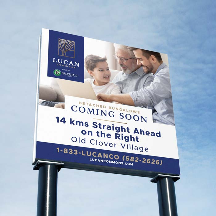Lucan Commons Square Billboard Sign Design