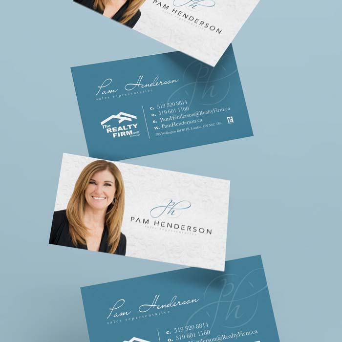 Pam Henderson Business Card Design